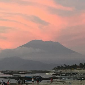 Mt Agung At Sunset